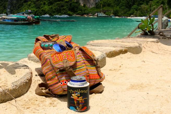 Estou apaixonada por esta mochila que comprei aqui na Thailãndia!